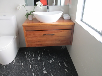 Amazing Find This Pin And More On  Bathroom  The Block NZ Cat &amp Jeremy Bathroom &amp Ensuite  Cementia Grey 75  This Large Format X Tile Looks Brilliant In The Small Space, As Large Format Tiles Can Make The Space Look Larger Than It Really Is Cat
